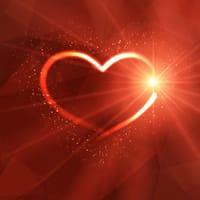 A luminous heart