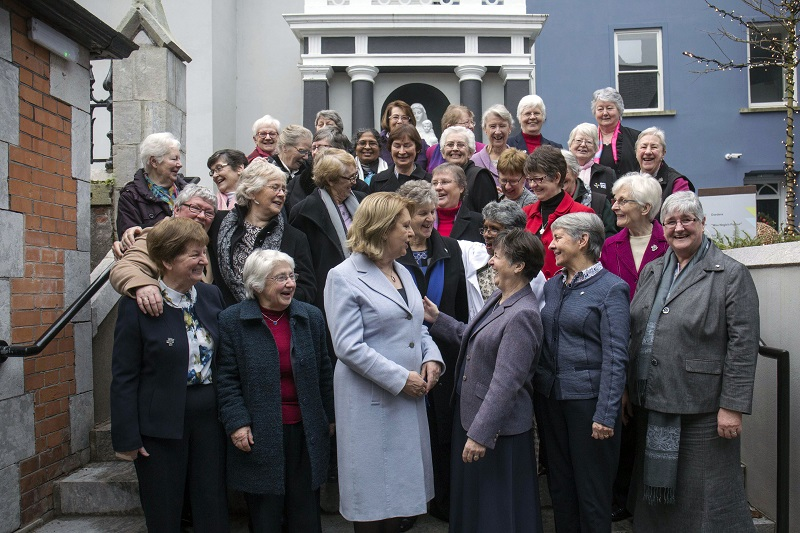 Dr Mary McAleese with members of the Presentation Sisters pictured at the official opening of Nano Nagle Place in Cork City on Monday, December 18th. Following a three year restoration and redevelopment of the former site of the South Presentation Convent and School, Nano Nagle Place was officially opened by the former President of Ireland, Dr Mary McAleese in the presence of the Lord Mayor of Cork, Cllr. Tony Fitzgerald. For further information see www.nanonagleplace.ie. Picture: Clare Keogh