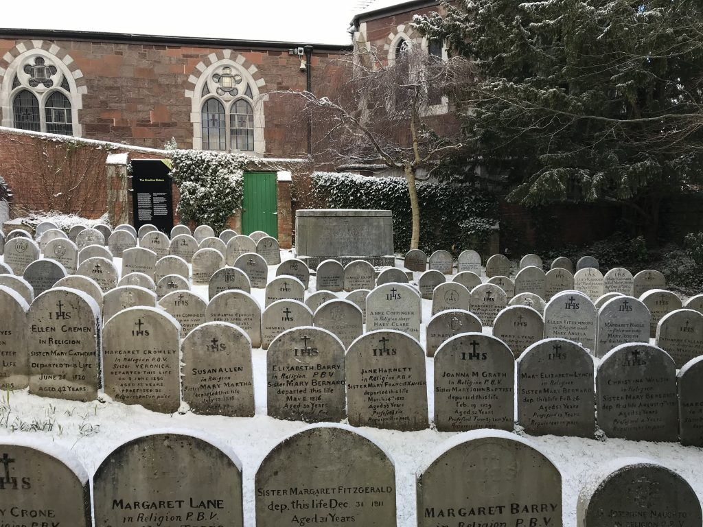 The Sisters' Graveyard under snow, 1 March 2018