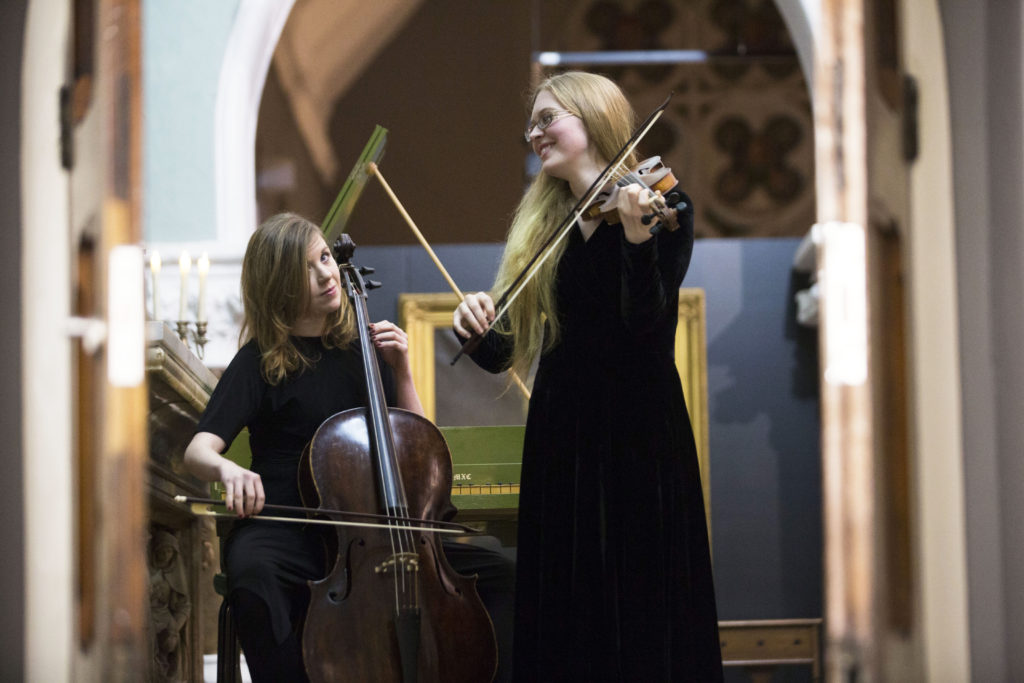 Norah O'Leary and Catriona O'Mahony East Cork Early Music Festival Performing in the Goldie Chapel
