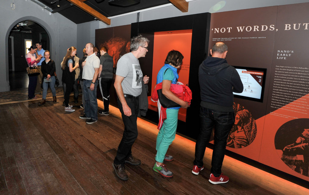 People Browsing the Exhibition at Nano Nagle Place on Cork Heritage Open Day
